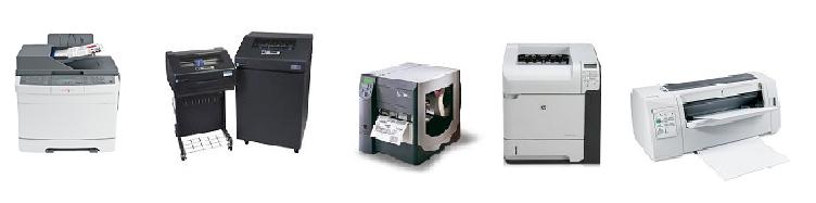 Echantillon imprimantes